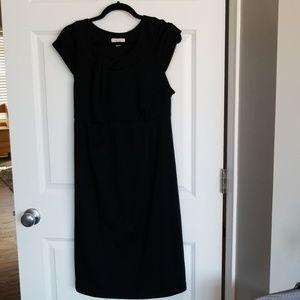 Maternity Knee length black maternity dress